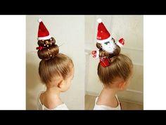 Christmas hairstyles! - New Year`s hair ideas. Новогодние красивые прически для детей. - YouTube