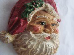 Old World Santa Clause St. Nick Christmas Necklace  Holiday Festive Decoration. $18.95, via Etsy.