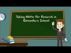 Taking Notes for Research in Elementary School - YouTube