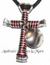 Disciple's Cross Horseshoe Nail Necklace - Wire Wrapped Cross BASEBALL SOFTBALL