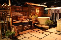 Bamboo Man does it again, this Japanese garden is simply stylish and authentic, plus the miniture displays inside the garden are joyous!  (via the Home Show FB Page: http://www.facebook.com/pdxhomeandgarden )