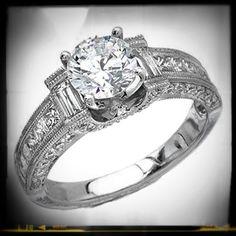 #Vintage Diamond Engagement Ring