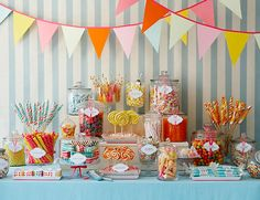 Old fashioned candy shop. setup a Candy Bar for guests to self serve