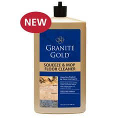 Granite Gold Squeeze & Mop Floor Cleaner® A safe alternative to typical floor cleaners, which can damage stone floors and lead to costly repair and replacement, Granite Gold Squeeze & Mop Floor Cleaner removes all types of soils in high-traffic areas such as hallways, kitchens and bathrooms.
