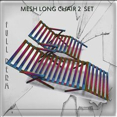 Mesh color wooden long chair 2 impact on land full perm