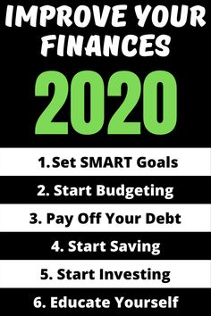 6 Ways To Improve Your Finances in 2020 - Finest Finance Do You Feel, Like You, How Are You Feeling, New Year New Me, Investing Money, Financial Goals, Debt Payoff, Achieve Your Goals, Take Action