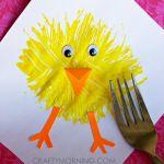 fork-print-chick-easter-craft-for-kids