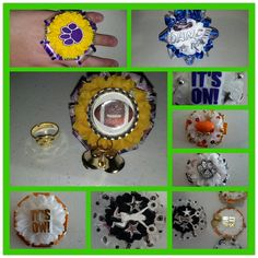 A beautiful 2 inch mum flower on a gold plated adjustable ring for homecoming, baby showers, graduations, weddings, sweet etc. Custom to Texas Homecoming Mums, Homecoming Corsage, Homecoming Games, Football Homecoming, Cheer Gifts, Cheer Mom, Football Mums, Football Season, Texas Mums