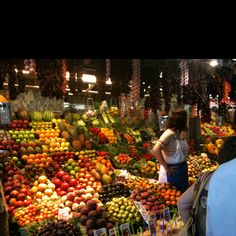 Fruit market in Barcelona, Spain. I've been here before and its AMAZING!