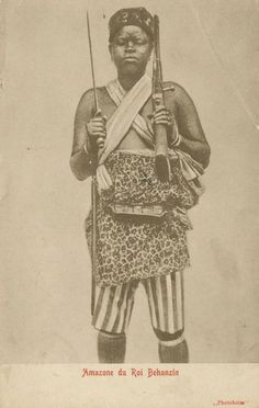 An African female soldier at the kingdom of Dahomey.