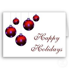 red ornaments Christmas Greeting Cards #christmas #holidays