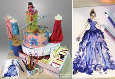 Vogue Cake | Fashion Theme Bat Mitzvah Party by Heather Barranco Dreamcakes - mazelmoments.com