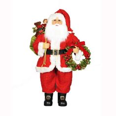Wreath and Gifts Santa - available in store or online at www.generalstorestockyards.com