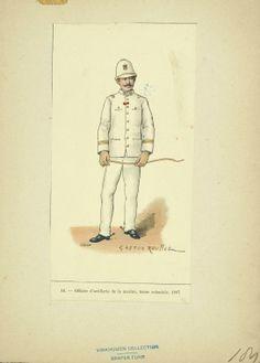 Artillery Officer de la Marine, Tenue Coloniale 1887