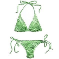 Vineyard Vines Green Cross Hatch Bikini