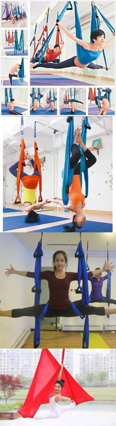 yoga props 179809  black aerial yoga swing anti gravity flying inversion therapy hammock trapeze buy it now only   63 31   yoga props 179809   pinterest     yoga props 179809  black aerial yoga swing anti gravity flying      rh   pinterest