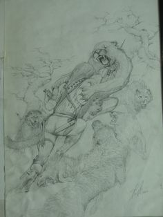 Drawing for battles of life