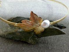 Bridal Headband  White Bridal Gold Headband by gazellejewelry, $45.00