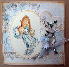 Annes lille hobbykrok: LOTV, Baby card, boy, Distress Ink