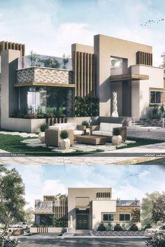 House Front Design, Modern House Design, Render Design, Villa Plan, Islamic Decor, Luxury Homes Dream Houses, Villa Design, House Architecture, Building Design