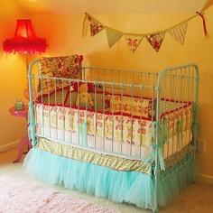 Boho Chic Nursery Design -love the tut for the skirt!