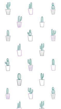 Imagen de cactus, background, and wallpaper Phone Wallpaper Images, Cool Wallpapers For Phones, Cute Patterns Wallpaper, Iphone Background Wallpaper, Kawaii Wallpaper, Tumblr Wallpaper, Pretty Wallpapers, Aesthetic Iphone Wallpaper, Galaxy Wallpaper