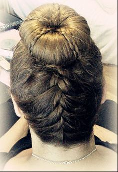 Updo with braids (: