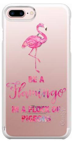 9228e4845f19 Casetify iPhone 7 Plus Case - Be a Flamingo in a Flock of Pigeons by Ruby  Ridge Studios