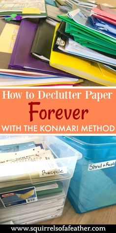 I hate paper clutter! This was an great guide to using the KonMari method to declutter paper. So much easier to stay organized now!