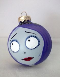 Corpse Bride Painted Holiday Christmas Ornament from Ginger Pots on Etsy!