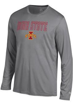 df8c6ee2a Champion Iowa State Cyclones Grey Athletic Long Sleeve Tee Long Sleeve T- Shirt - 14752980