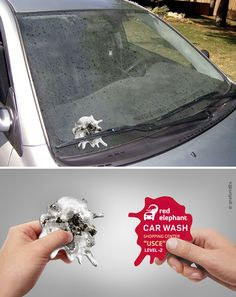 Very nice guerrilla marketing advertising for a car wash salon. Creative ads and promo campaign Creative Advertising, Guerrilla Advertising, Advertising Design, Advertising Campaign, Marketing And Advertising, Marketing Tools, Online Marketing, Contextual Advertising, Advertising Ideas