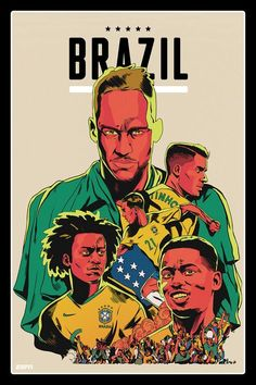 Brazil World Cup 2018 team posters: Former winners, fan favourites, star players ready for Russia Brazil World Cup, World Cup Russia 2018, Fifa World Cup, Brazil Football Team, Football Art, Iran Football, Neymar, World Cup 2018 Teams, Ronaldo