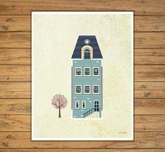 laminas casas laminas a3 laminas imprimibles por Ilustracionymas