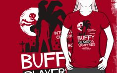 Slayer of the Vampyres by Tom Trager // Favorite episode of favorite tv show made into t-shirt....head is exploding from awesome...