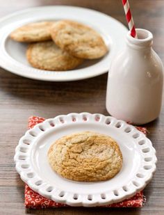 Gingerdoodles Recipe - part gingerbread, part snickerdoodle! Perfect for when you can't decide what kind of cookie you want to make!
