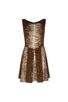 Gold Animal print dress by Iska :: Clozette Shoppe  http://shoppe.clozette.co/product/debenhams-3058524667/gold-animal-print-dress