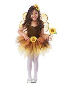 Look what I found on #zulily! Brown & Yellow Sunflower Tutu Dress-Up Set - Toddler & Girls #zulilyfinds