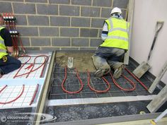 Installing the test screeds