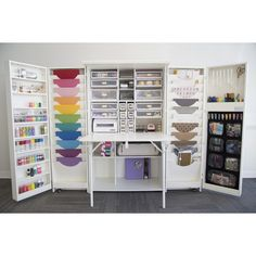 Teresa Collins Studio Box...seriously how cool is this? You could keep all your crafting/sewing/scrapbooking things all in one place!
