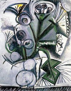 Pablo Picasso. Bouquet de fleurs. 1969 year