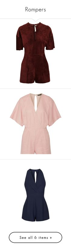 """""""Rompers"""" by bleubeauty1 on Polyvore featuring jumpsuits, rompers, dresses, jumpsuit, merlot, cut-out jumpsuits, loose fit jumpsuit, playsuit jumpsuit, cutout romper and cut out jumpsuit"""