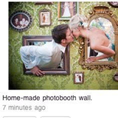 Photo booth idea for wedding couple