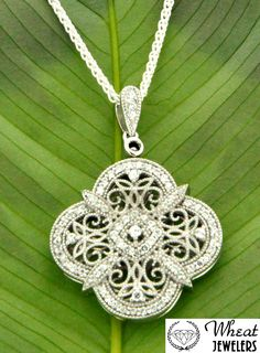 Keith Jack clover pendant available at Wheat Jewelers