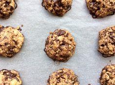 flor do brownie: Biscoitos de aveia, chocolate e coco