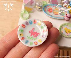 Easter dishes   Hummingbird Miniatures