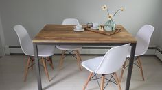 my west elm box frame dining table. love it <3