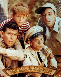 Andy Griffith as Sheriff Andy Taylor, Jim Nabors as Gomer Pyle, Ron Howard as Opie Taylor and Don Knotts as Deputy Barney Fife in 'The Andy Griffith Show', circa Get premium, high resolution news photos at Getty Images Larry Wilcox, Photo Vintage, Vintage Tv, Vintage Hollywood, Vintage Stuff, Vintage Signs, Classic Hollywood, Best Tv, The Best