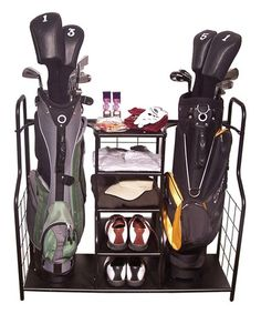 Need to get this for my husband!! Look what I found on #zulily! Golf Bag & Sports Storage Shelf #zulilyfinds