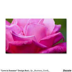 """Love in Summer"" Design Business Card"